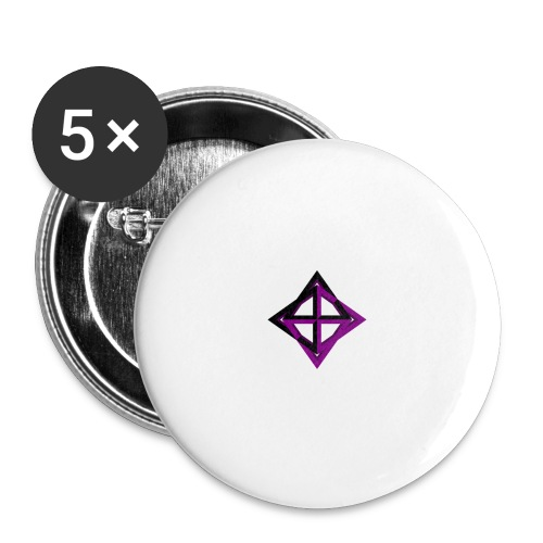 star octahedron - Buttons large 2.2''/56 mm (5-pack)