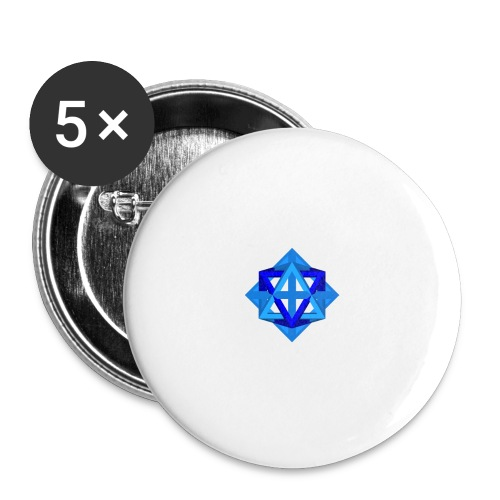 star octahedron series geommatrix - Buttons large 2.2''/56 mm (5-pack)