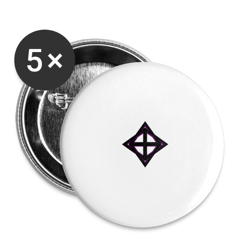 star octahedron geommatrix - Buttons large 2.2''/56 mm (5-pack)