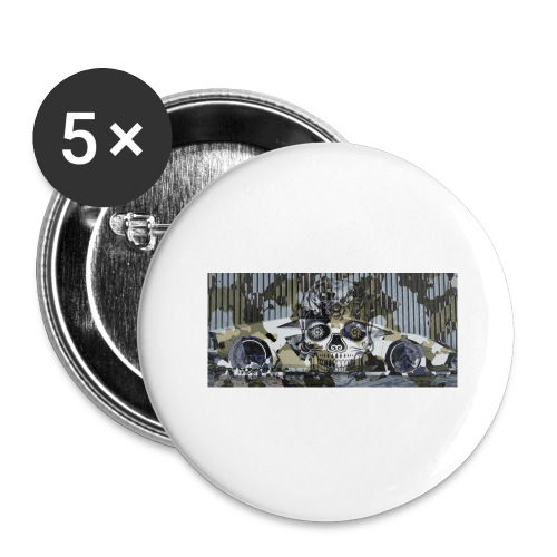 calavera style - Buttons large 2.2''/56 mm(5-pack)