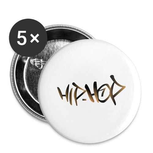 HIP HOP - Buttons large 2.2''/56 mm(5-pack)