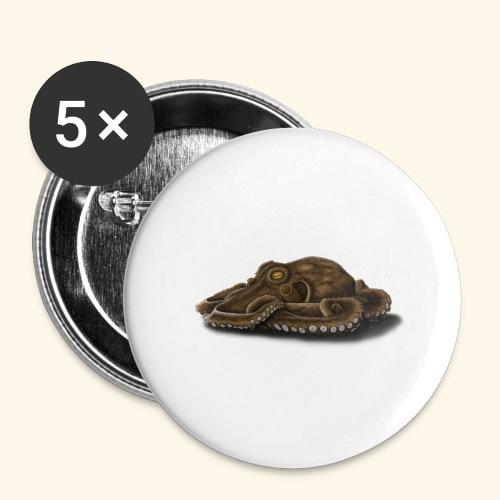 Oktopus - Buttons groß 56 mm (5er Pack)