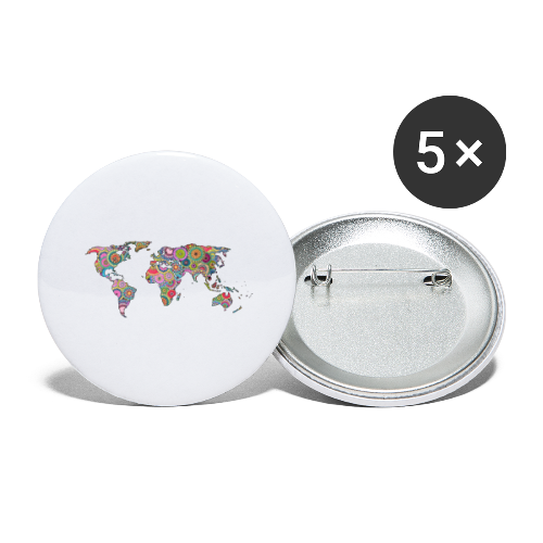 Hipsters' world - Buttons large 2.2''/56 mm (5-pack)