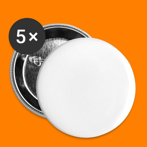 periodic white - Buttons large 2.2''/56 mm (5-pack)