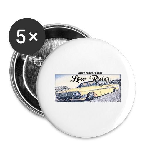 Lowrider impala 1963 vato loco west coast tshirt - Buttons large 2.2''/56 mm(5-pack)