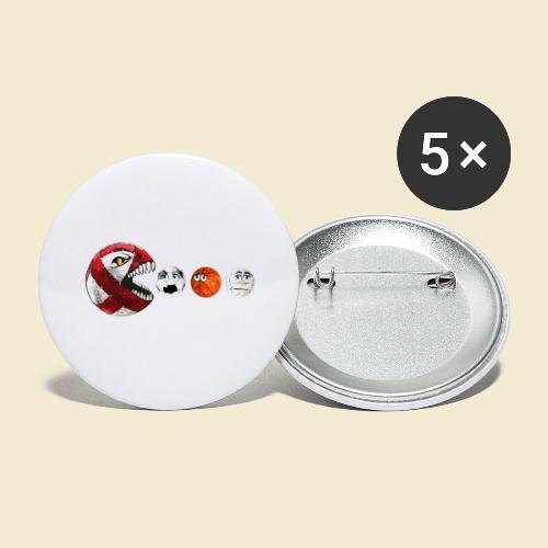 Radball | Cycle Ball RedMan - Buttons groß 56 mm (5er Pack)