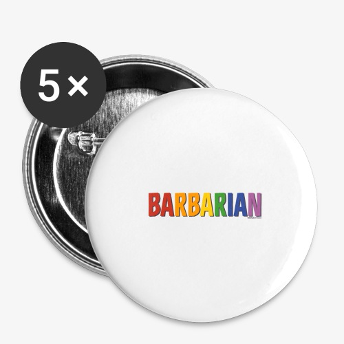 Barbarian Pride (Rainbow) - Buttons large 2.2''/56 mm(5-pack)