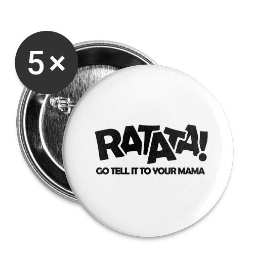 RATATA full - Buttons groß 56 mm (5er Pack)