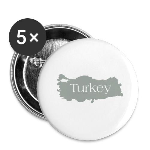 tuerkei - Buttons groß 56 mm (5er Pack)