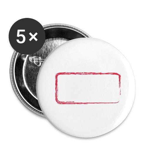 backrahmen28 - Buttons groß 56 mm (5er Pack)