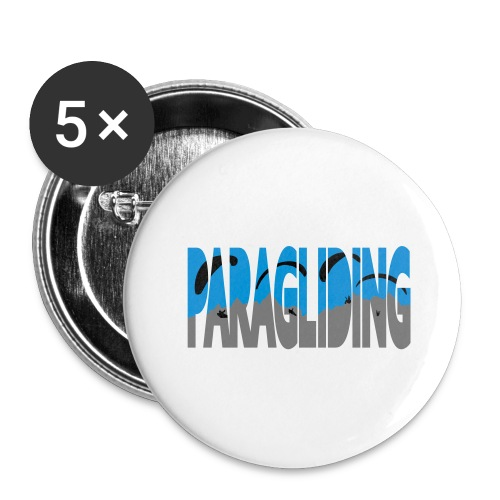 Paragliding Letters - Buttons large 2.2''/56 mm (5-pack)