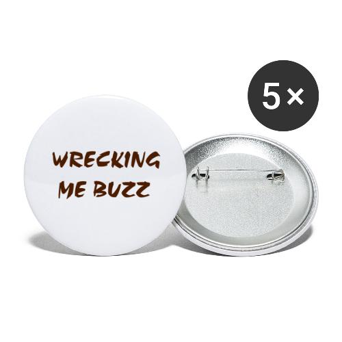 wreckingmebuzz - Buttons large 2.2''/56 mm(5-pack)