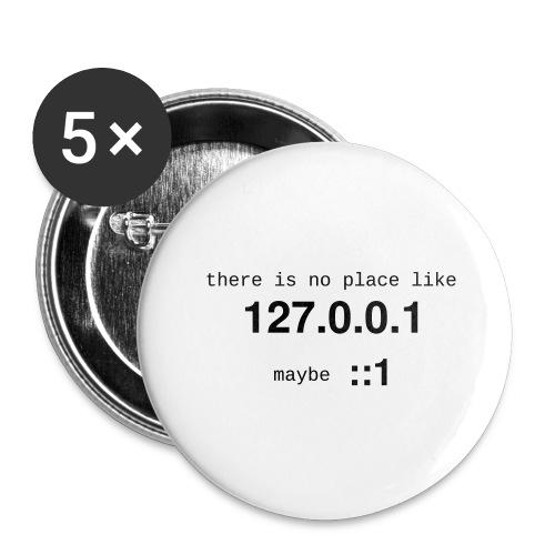 127-0-0-1-::1 - Lot de 5 grands badges (56 mm)