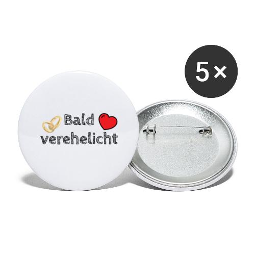 Das perfekte Design für den Junggesellenabschied - Buttons groß 56 mm (5er Pack)
