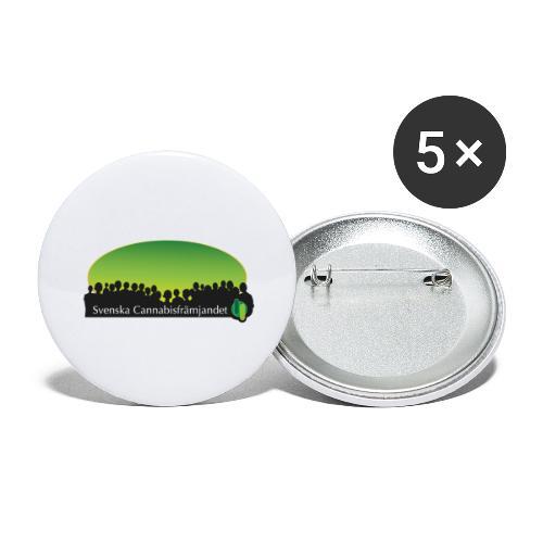 Svenska Cannabisfrämjandet - Stora knappar 56 mm (5-pack)