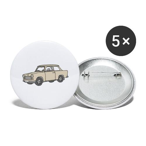 Trabi, Trabant (papyrus) - Buttons groß 56 mm (5er Pack)
