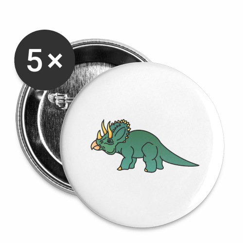 Dino - Buttons groß 56 mm (5er Pack)
