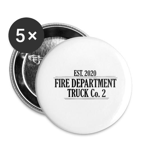 Truck Co.2 - BLACK - Buttons/Badges stor, 56 mm (5-pack)