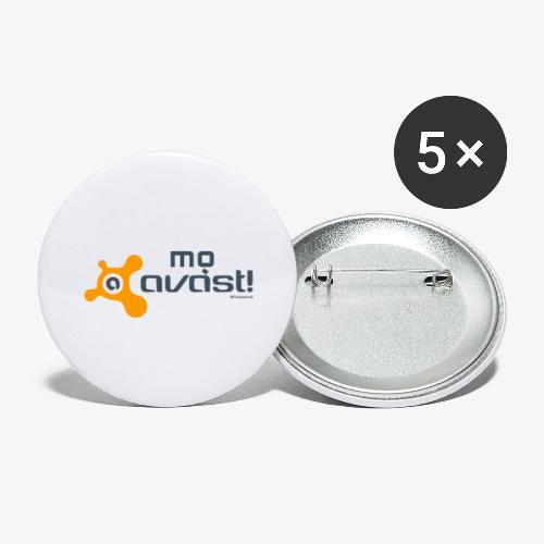 Avast! - Confezione da 5 spille grandi (56 mm)