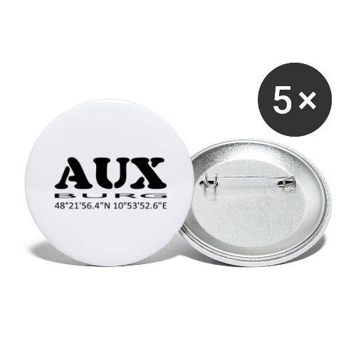 Auxburg - Buttons groß 56 mm (5er Pack)