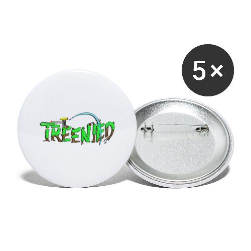 Treenied - Stora knappar 56 mm (5-pack)