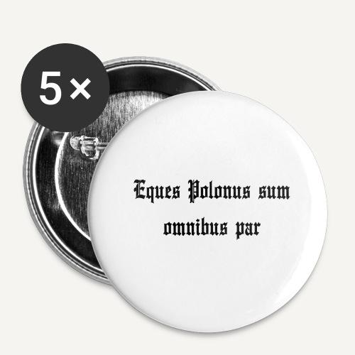equespolonus - Przypinka duża 56 mm (pakiet 5 szt.)
