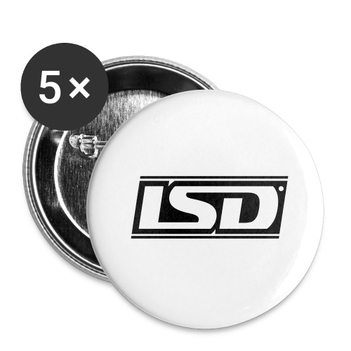 LSD TM. - Buttons groß 56 mm (5er Pack)