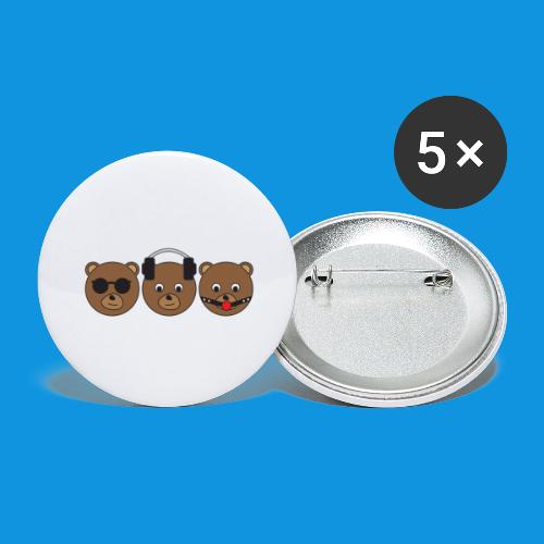 3 Wise Bears - Buttons large 2.2''/56 mm(5-pack)