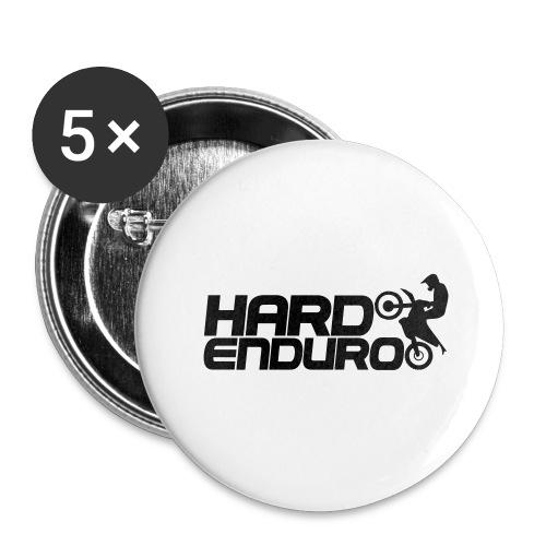 Hard Enduro Biker - Buttons groß 56 mm (5er Pack)