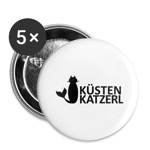 Küstenkatzerl - Buttons groß 56 mm (5er Pack)
