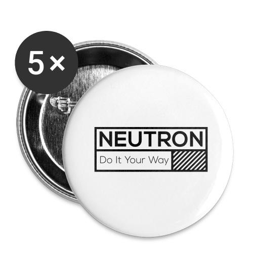 Neutron Vintage-Label - Buttons groß 56 mm (5er Pack)