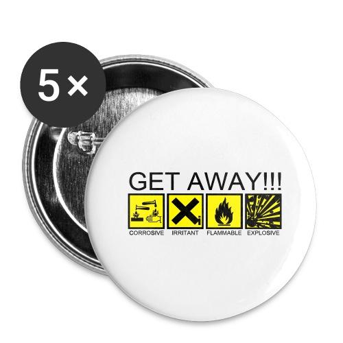 get away - Paquete de 5 chapas grandes (56 mm)