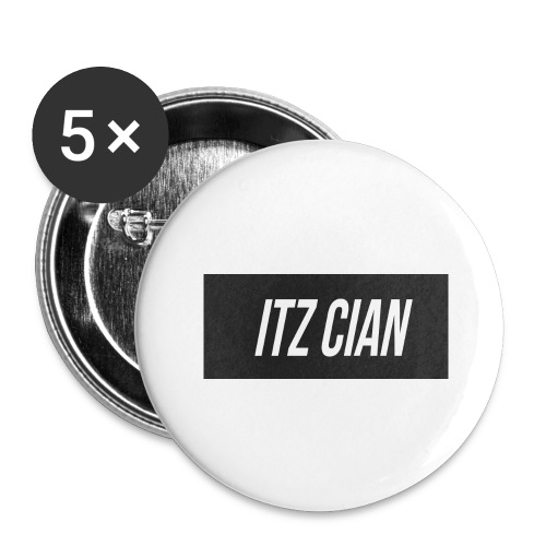ITZ CIAN RECTANGLE - Buttons large 2.2''/56 mm(5-pack)