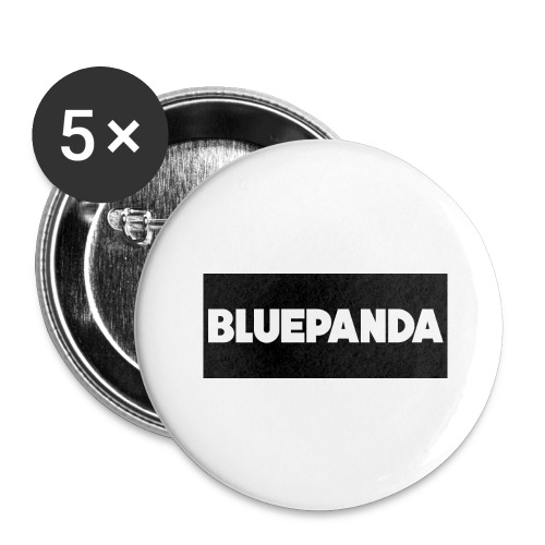 BLUE PANDA - Buttons large 2.2''/56 mm (5-pack)