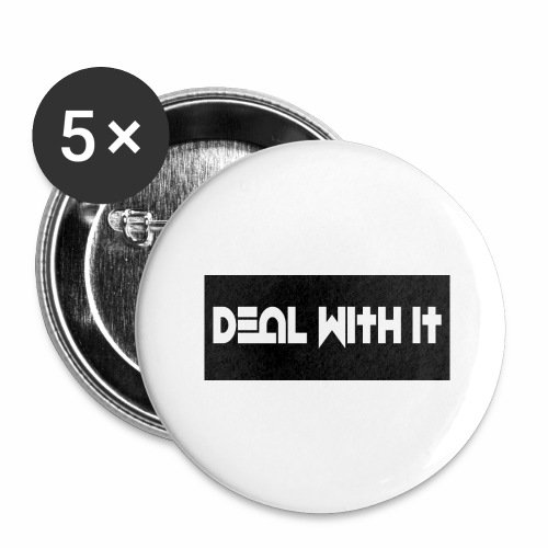 Deal With It products - Buttons large 2.2''/56 mm (5-pack)