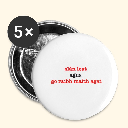 Good bye and thank you - Buttons large 2.2''/56 mm (5-pack)