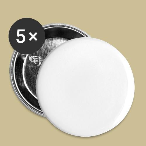 Gugelhupf (white) - Buttons groß 56 mm (5er Pack)