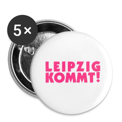 leipzigkommt leipziger leipzig - Buttons groß 56 mm (5er Pack)