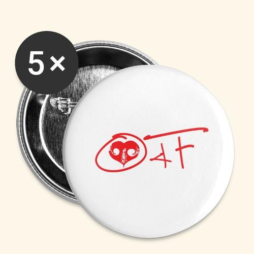 O4F ROSSO - Confezione da 5 spille grandi (56 mm)