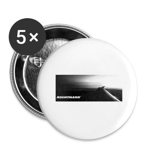 Nighthawk - Buttons groß 56 mm (5er Pack)