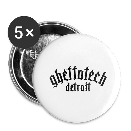 Gettotech Detroit - Buttons large 2.2''/56 mm(5-pack)