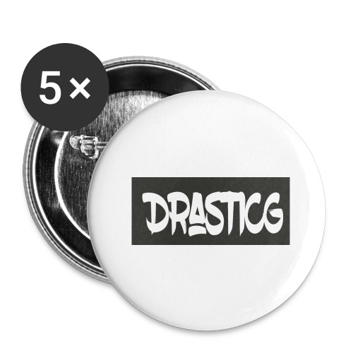 Drasticg - Buttons large 2.2''/56 mm(5-pack)