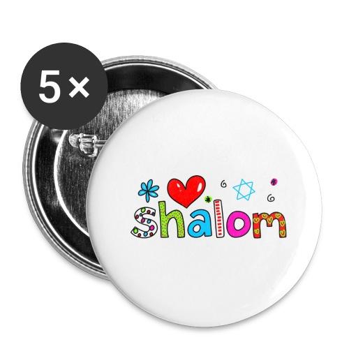 Shalom II - Buttons groß 56 mm (5er Pack)