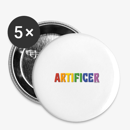 Artificer Pride (Rainbow) - Buttons large 2.2''/56 mm(5-pack)