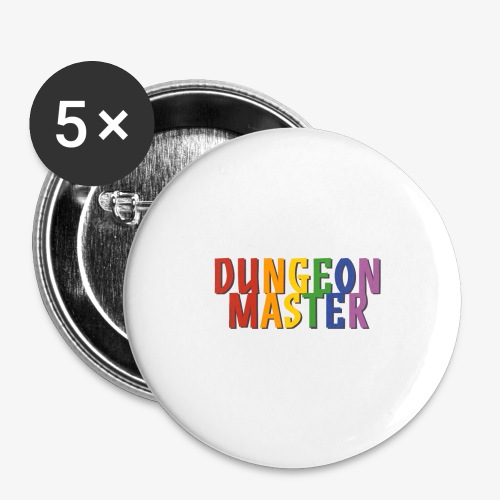 Dungeon Master Pride (Rainbow) - Buttons large 2.2''/56 mm(5-pack)