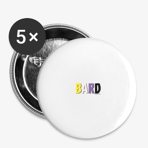 Bard Pride (Non Binary) - Buttons large 2.2''/56 mm(5-pack)
