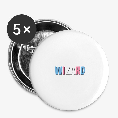 Pride (Trans) Wizard - Buttons large 2.2''/56 mm(5-pack)