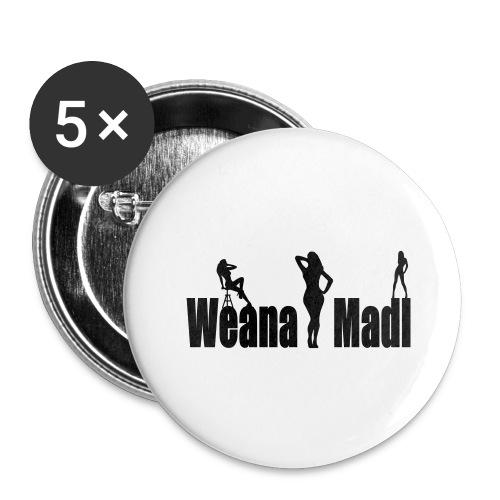 weana madl - Buttons groß 56 mm (5er Pack)