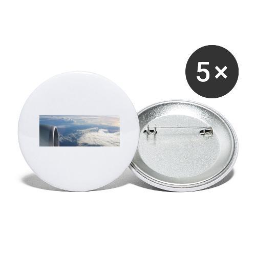 Flugzeug Himmel Wolken Australien - Buttons groß 56 mm (5er Pack)