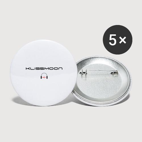 Klissmoon Logo black - Buttons large 2.2''/56 mm(5-pack)